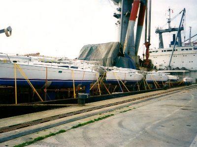 Sailing yacht charter fleet transportation