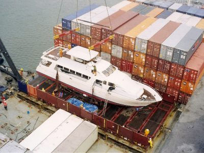 Superyacht shipping from China