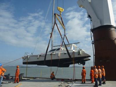 Voyage 440 catamaran shipping