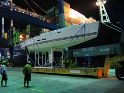 X55 yacht shipping to Malaysia