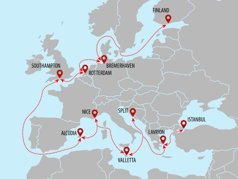 Europe - Mediterranean SuperYacht Shipping