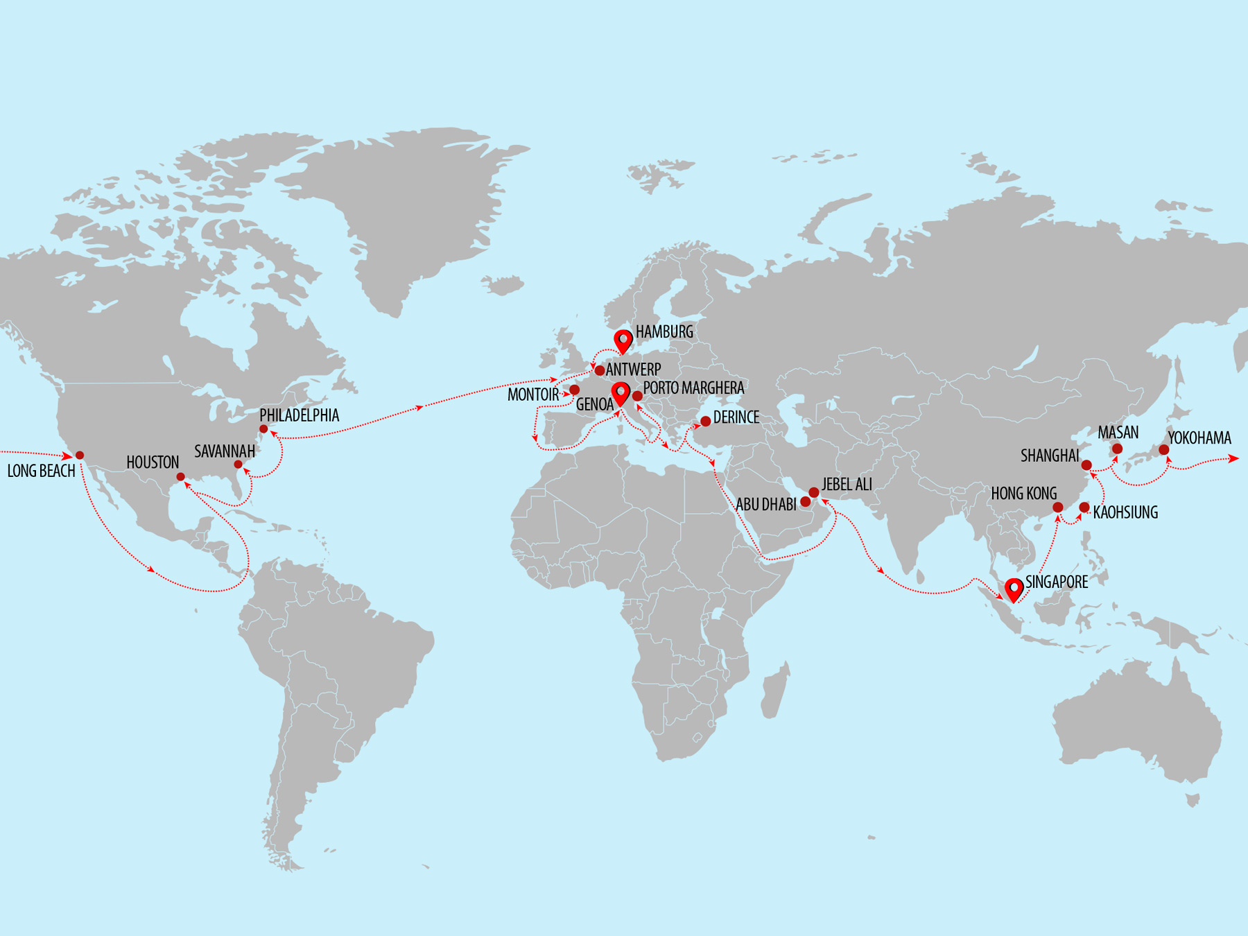 Round the World SuperYacht Shipping