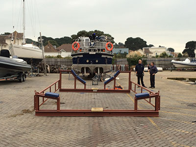 RNLI Mersey Class Lifeboat Shipping Cradle