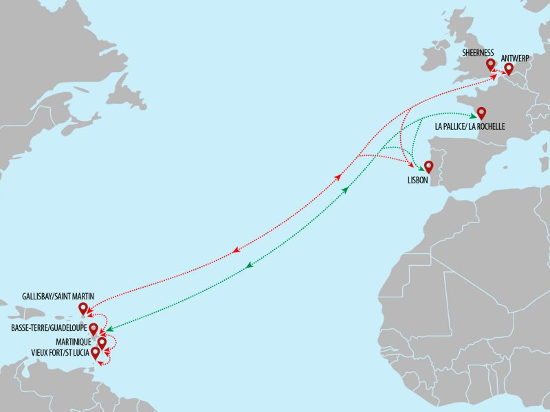 Europe - Caribbean SuperYacht Shipping