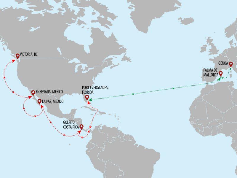 Superyacht Shipping USA Sailings